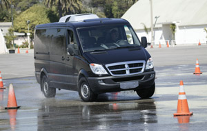 Dodge Sprinter on Skidpad