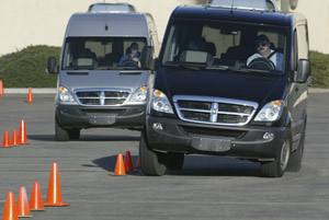 Dodge Sprinter slalom course
