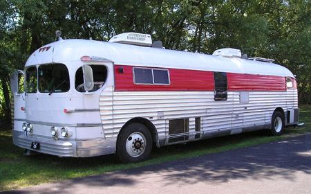 Vintage 1951 Greyhound Motorhome Bus