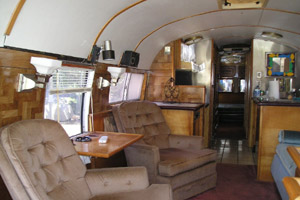 Vintage 1951 Greyhound Motorhome Bus Interior
