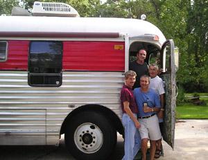 Vintage Greyhound Motorhome Bus