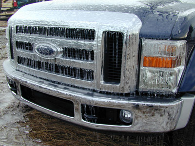 Ford Super Duty on ice